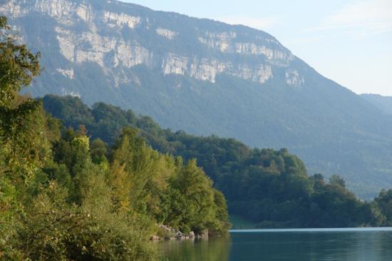le mont Grel vu du lac