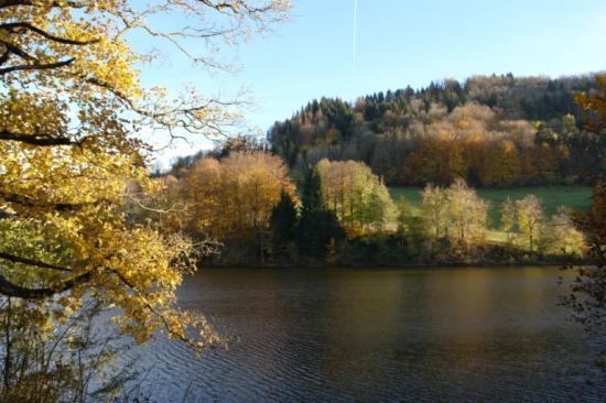 couleur d'automne au lac de St Sixte